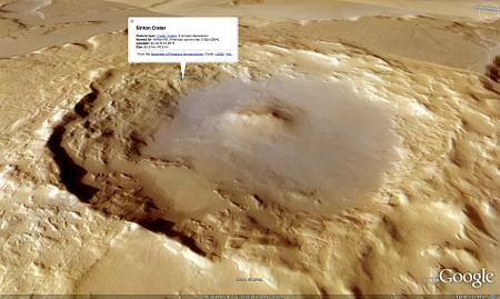 Google Earth 5.0: Mars in 3D