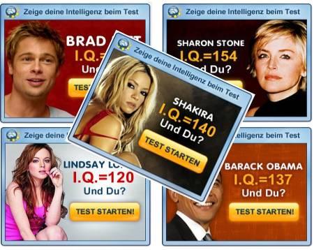 Abzocke mit IQ-Tests - Werbebanner auf AdSense
