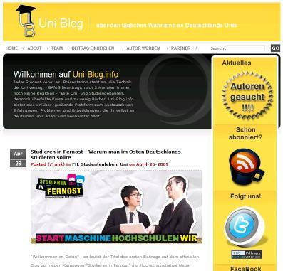 BlogTipp der Woche: Das Uni-Blog