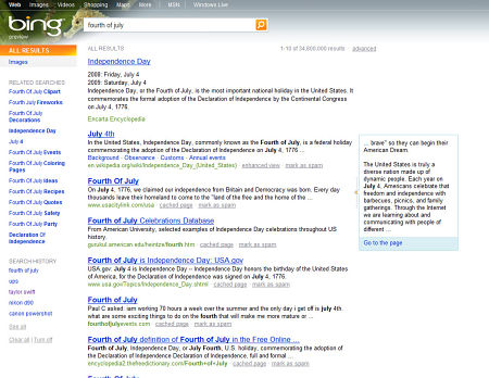Microsoft Bing - Quick Preview