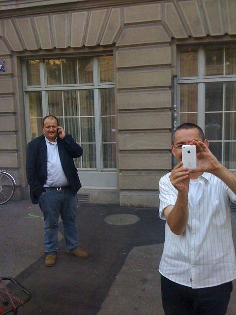 Telefonkabinen-Sit-In Paparazzi?