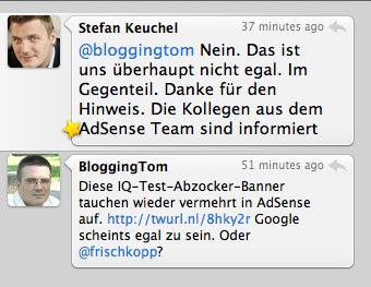 Stefan Keuchel zu den IQ-Test-Bannern auf AdSense