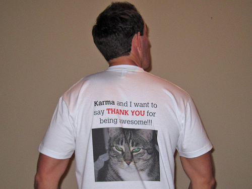 I wear your shirt - Katzencontent