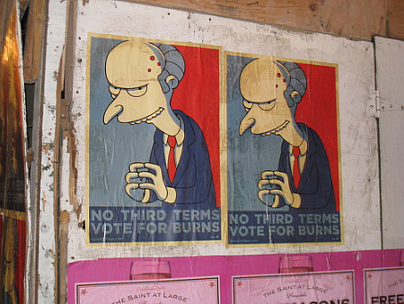 Monty Burns - No third terms - Vote for Burns
