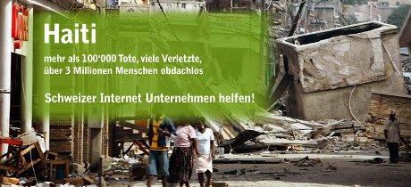 Haiti - Online-Tombola von Schweizer Internet-Unternehmen