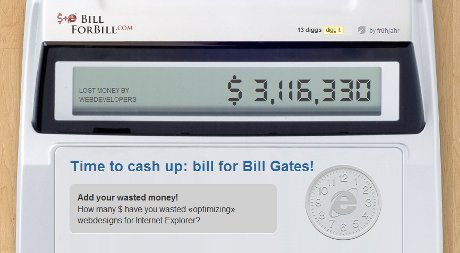 Time to cash up: bill for Bill Gates!