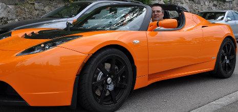 Probefahrt im Tesla Roadster Sport