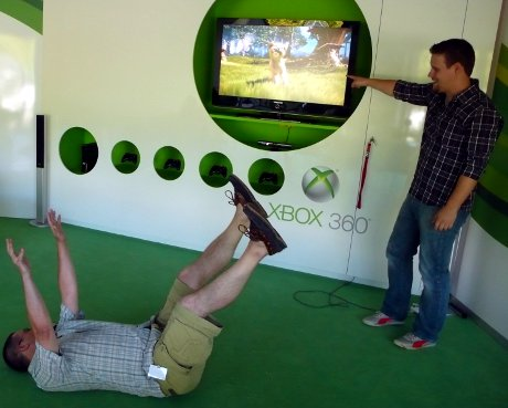 Kinect mit vollem Körpereinsatz