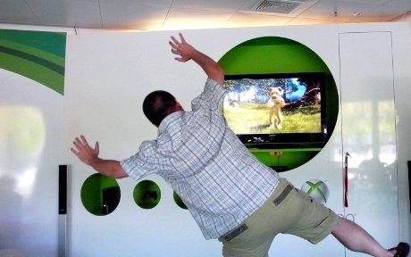 Rumhampeln mit Microsoft Kinect