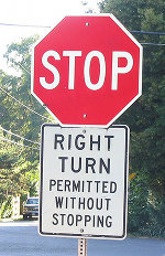 Right turn permitted without stopping