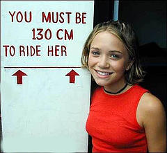 You must be 130cm to ride her