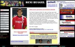 Homepage Beni Huggel