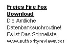 AdSense - Freies Fire Fox Download
