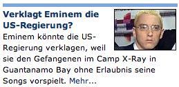 Verklagt Eminem die US-Regierung?