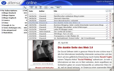 Attensa Online - Screenshot