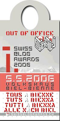 Swiss Blog Awards - Out of Office