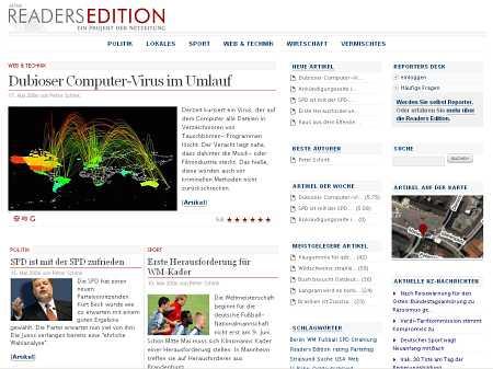 Screenshot der Readers Edition
