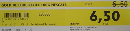 Carrefour: Gold de Luxe Refill statt Fr. 6.50 nur Fr. 6.50