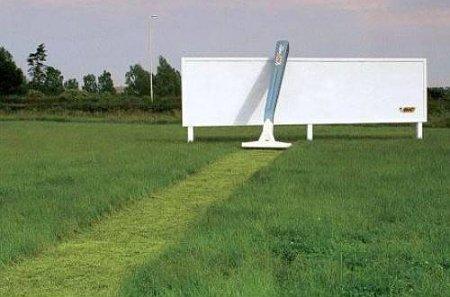 Werbung - Nassrasieren mal anders