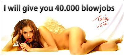 Tania Derveaux - I will give you 40'000 blowjobs