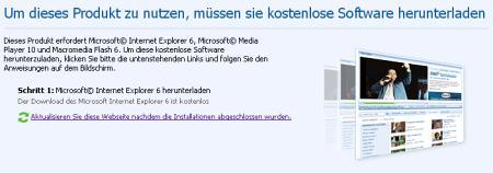 Live Earth auf MSN - Um dieses Produkt zu nutzen, müssen Sie kostenlose Software herunterladen