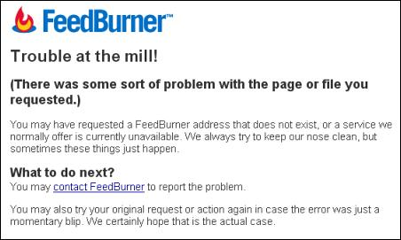 Feedburner Screenshot - Trouble at the Mill