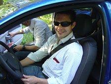 Julien vor seiner Twingo-Fahrt