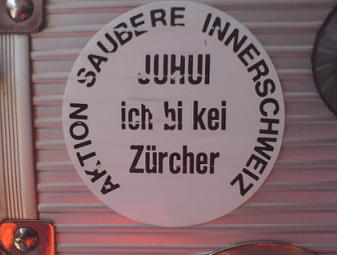 Aktion saubere Innerschweiz - Juhui ich bi kei Zürcher
