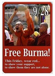 Free Burma - Wear red!