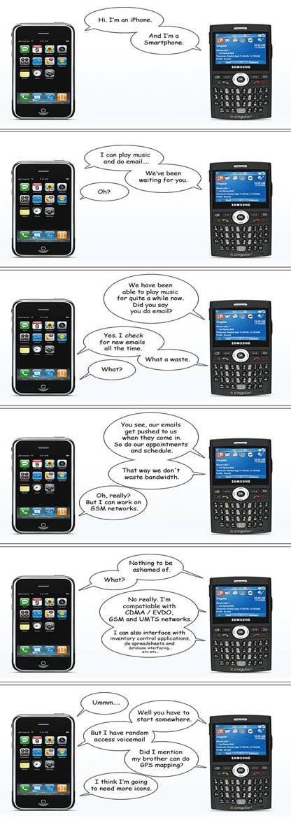 Apple iPhone vs. Windows Mobile Smartphone