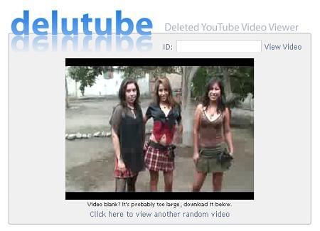 Delutube - Gelöschte YouTube-Videos ansehen