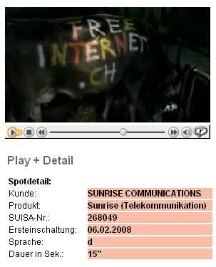 Sunrise steckt hinter der freeinternet.ch-Aktion
