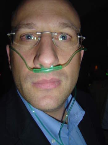 Andi Widmer an der Oxygen Bar