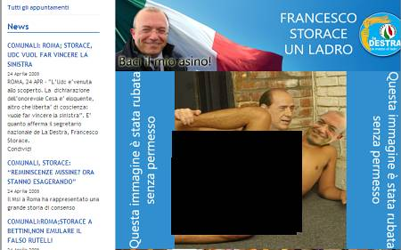 Screenshot - Website Francesco Storace