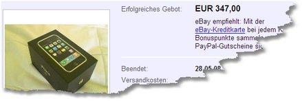 eBay-Schnäppchen: iPhone-Verpackung für 347 Euro