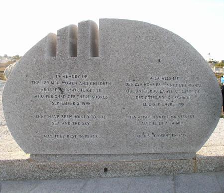 Swissair Memorial at Peggy's Cove