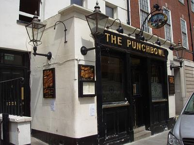 The Punchbowl Pub in Mayfair/London