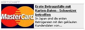 Blick - Erste Betrugsfälle mit Karten-Daten - Schweizer betroffen
