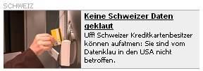 Blick - Keine Schweizer Daten geklaut?