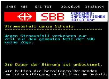 SBB Totalausfall